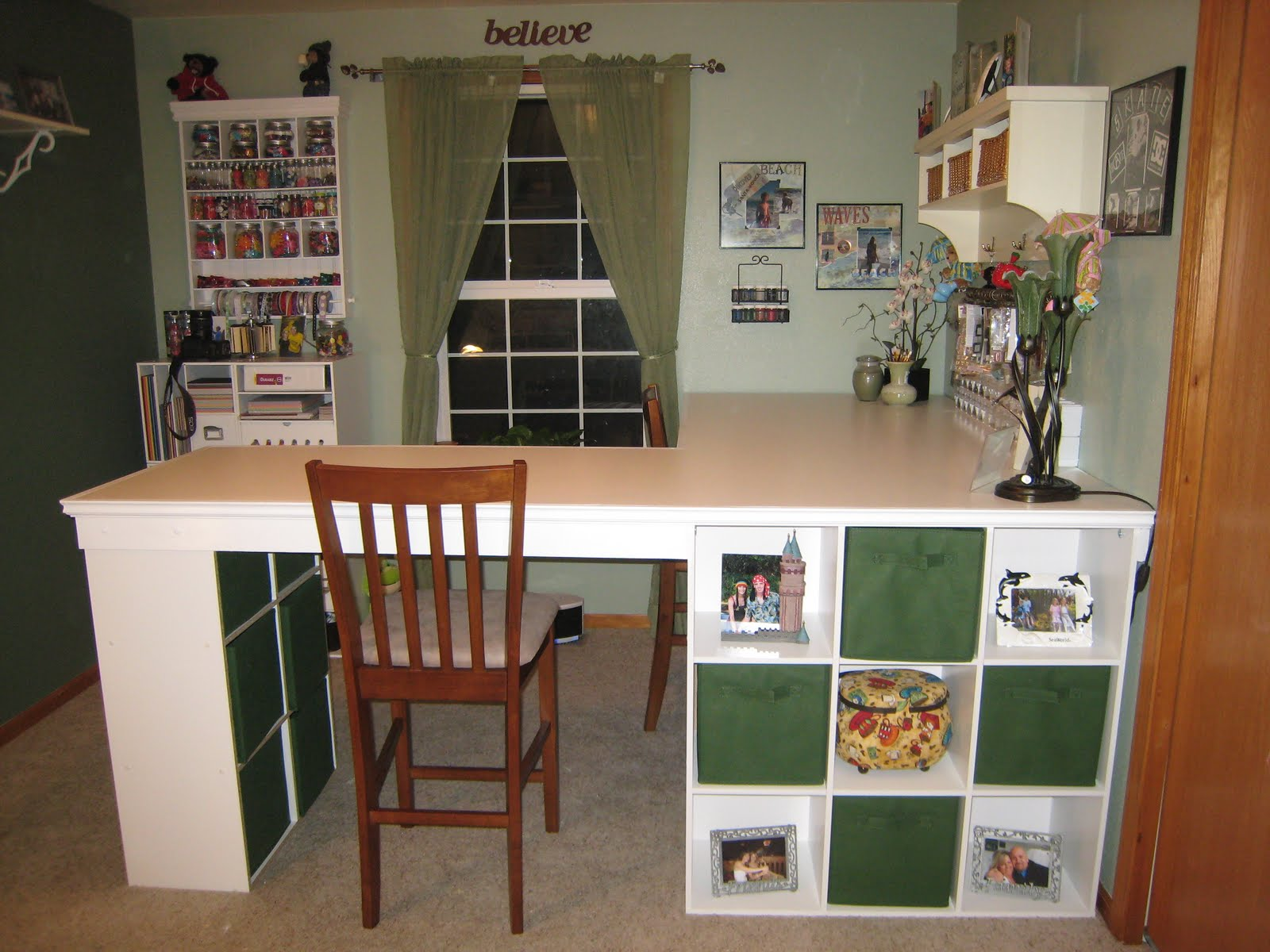 Build Your Dream Craft Desk With Just 3 Ikea Bookshelves Neat And Cozy Home Ideas